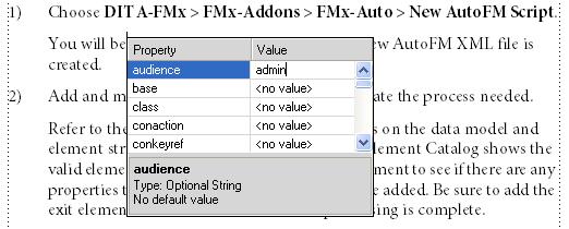 FM11: Attribute ändern