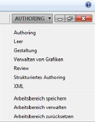 Adobe FrameMaker 11 - Auswahl von Arbeitsbereichen bzw. Workspaces