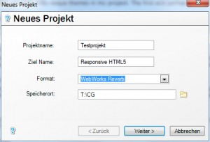 WebWorks ePublisher - Projekteinstellungen