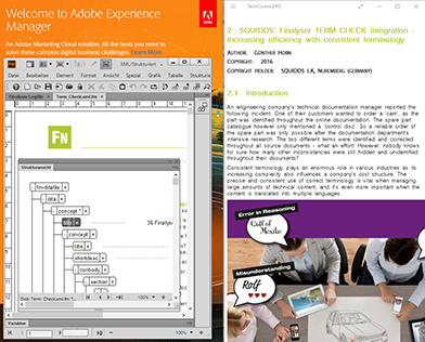 In Adobe FrameMaker mit DITA Content erstellen, mit Adobe Experience Manager verwalten und App ausgeben.
