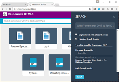 FrameMaker 2017 - die neue HTML5 responsive Ausgabe