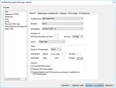 Speichern als PDF